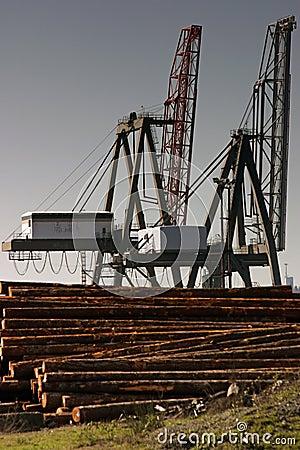 Logging cranes.