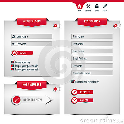 Free Login And Register Form Stock Photos - 34606093