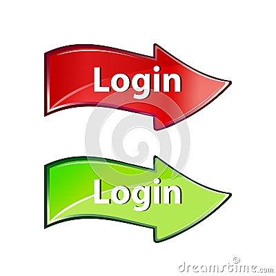 Login arrow