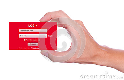 Login form handheld