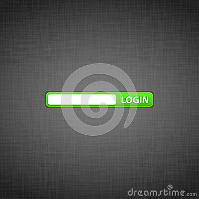 Login form on the website
