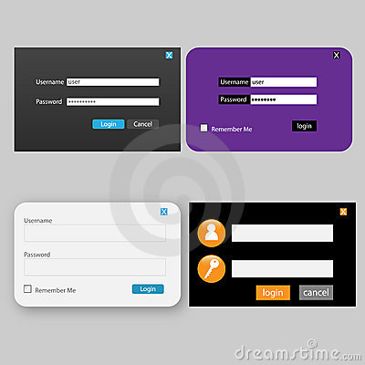 Login and password design