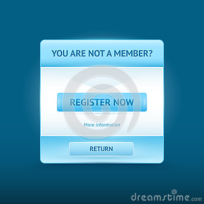 Login and register glossy web forms