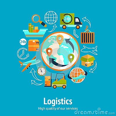 Free Logistic Chain Concept Royalty Free Stock Images - 40271089