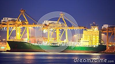 Logistic concept, container cargo