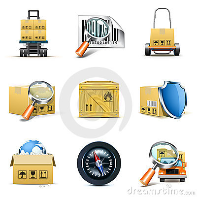 Logistic and distribution icons | Bella series