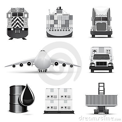 Logistic icons | B&W series