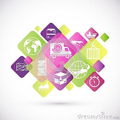 Free Logistic Icons Design Stock Image - 40271091