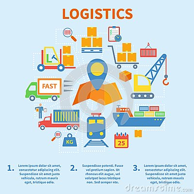 Free Logistic Infographic Icons Flat Stock Images - 41989984