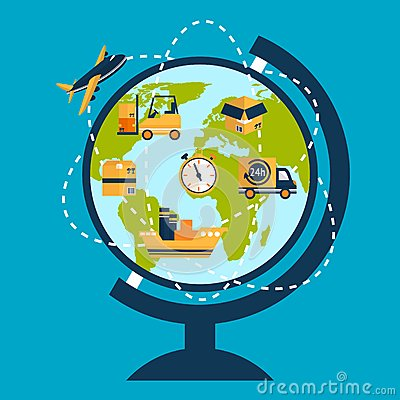 Free Logistic Network Concept Royalty Free Stock Photo - 40411285
