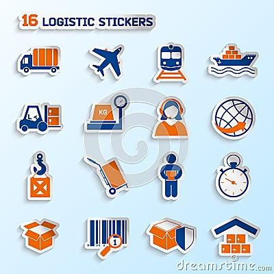 Free Logistic Stickers Set Stock Photo - 39955700