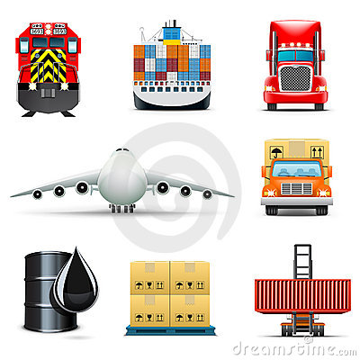 Logistic and transportation icons | Bella series