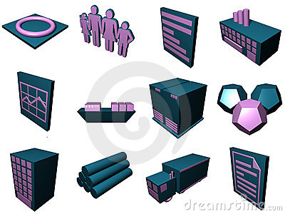 Logistics Process Icons For Su