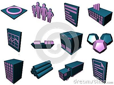 Logistics Process Icons For Su