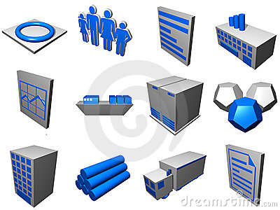 Logistics Process Icons For Supply Chain Diagram