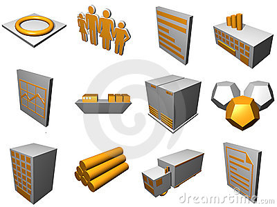 Logistics Process Icons For Supply Chain Diagram i