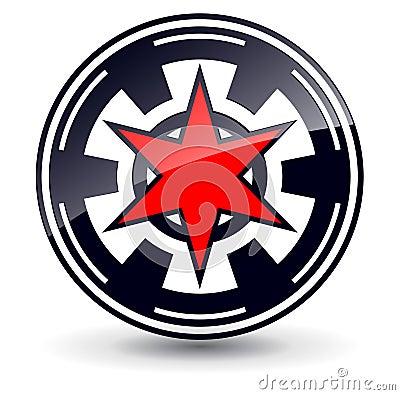 Logo 3D star.