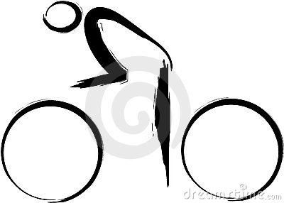 Logo abstrait de cycle