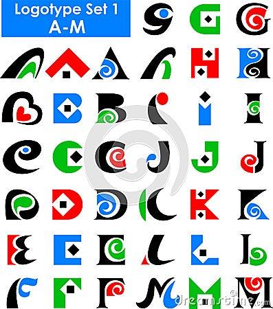 Free Logo Alphabet Set/eps Stock Photos - 15185113