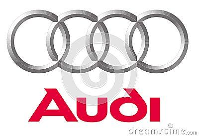 Logo Audi Editorial Stock Photo