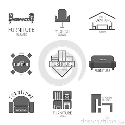 Free Logo, Badge Or Label Inspiration With Furniture  For Shops, Companies, Advertising Or Other Business. Stock Photo - 52821310