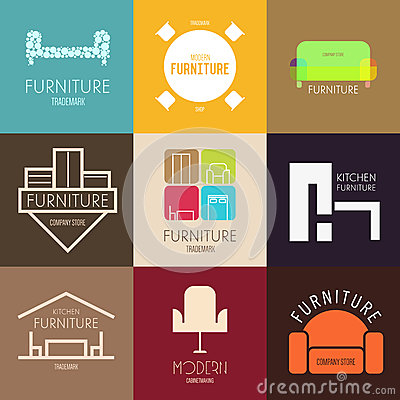 Free Logo, Badge Or Label Inspiration With Furniture  For Shops, Companies, Advertising Or Other Business. Royalty Free Stock Images - 52821329