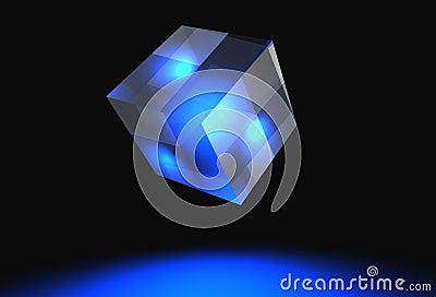 Logo banner cube
