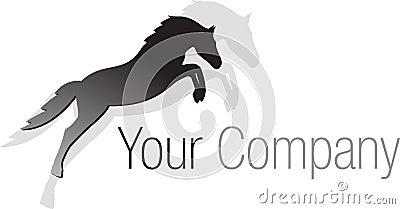 Logo black jumping horse