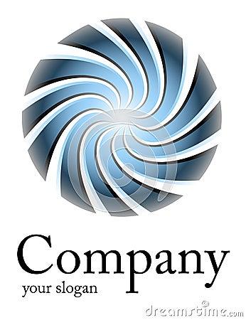 Logo blue spiral