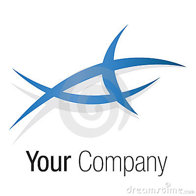 Logo blue triangle shape