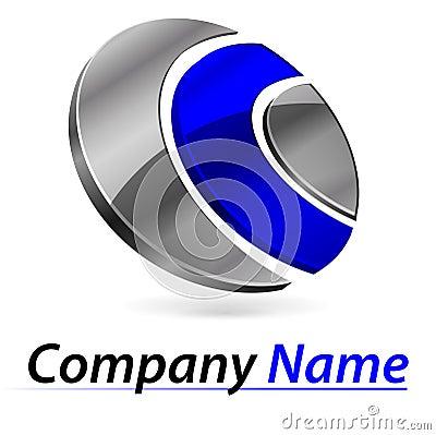 Logo branding 3d