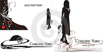 Logo for business cards. Fashion style