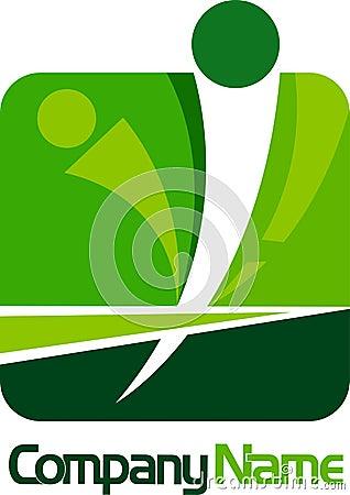 Logo carré humain