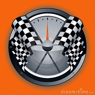Logo Checkered d indicateur