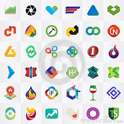 Free Logo Collection Royalty Free Stock Photo - 48423795