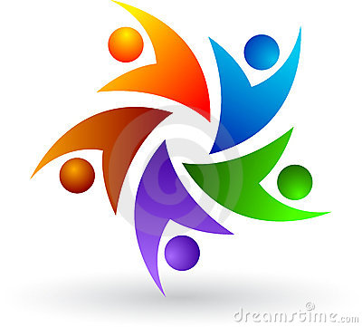 Logo coloré de gens
