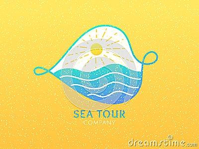 Logo cruise Vector Illustration