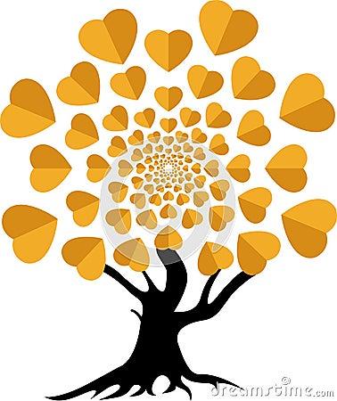 Logo d arbre d amour