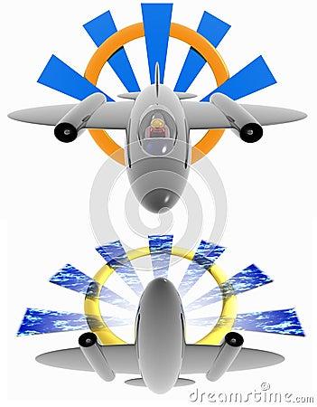 Logo d avion à réaction