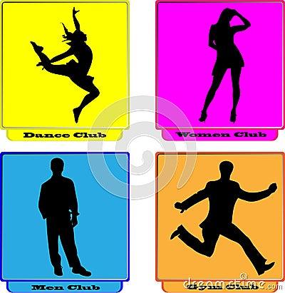 Logo dance women men gym club