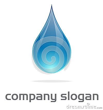 Logo de baisse de l eau