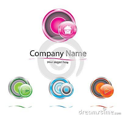 Logo de vecteur de société