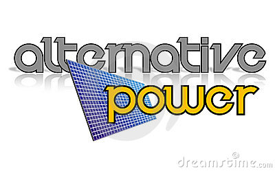 Logo design. Alternative power sign, solar panel