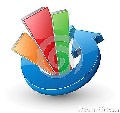 Logo dynamic arrow