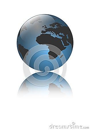 Logo earth globe