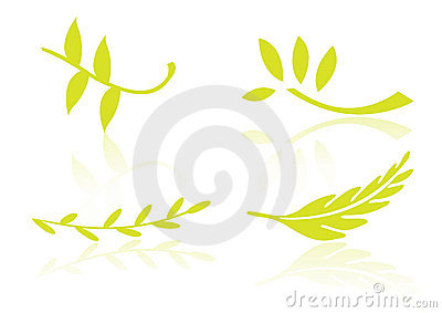 Logo elements leafs - vector