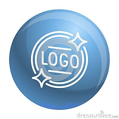 Logo emblem icon, outline style Vector Illustration