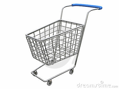 Logo Empty cart over white