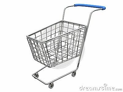 Logo Empty cart over white
