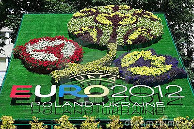Logo of Euro-2012 Editorial Photography